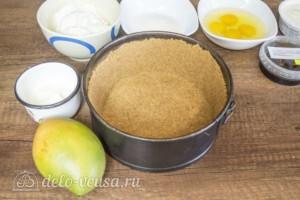 Тропический чизкейк с манго и меренгой: фото к шагу 3.