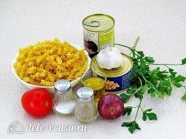 Паста с тунцом и оливками: Ингредиенты