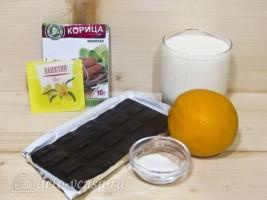 Горячий шоколад с апельсином: Ингредиенты