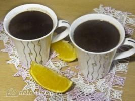 Горячий шоколад с апельсином: фото к шагу 8.