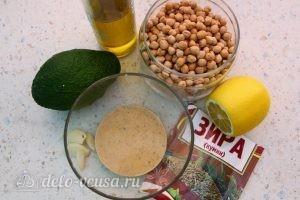 Хумус с авокадо из нута: Ингредиенты