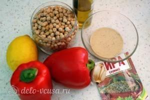 Хумус с печеным перцем: Ингредиенты