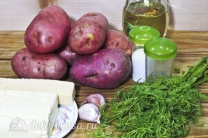Хризантемы из картофеля с укропом и сыром: Ингредиенты