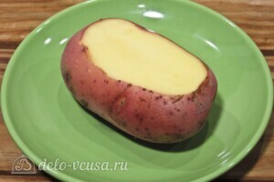 Хризантемы из картофеля с укропом и сыром: фото к шагу 1.