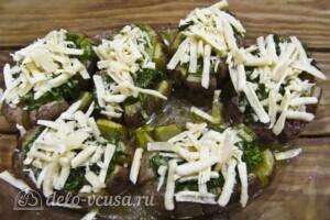Хризантемы из картофеля с укропом и сыром: фото к шагу 12.