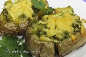 Хризантемы из картофеля с укропом и сыром: фото к шагу 14.