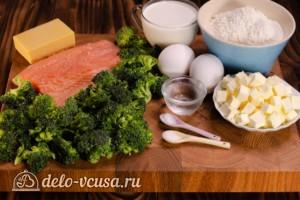 Киш с семгой и брокколи: Ингредиенты