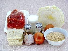 Котлеты из свинины с капустой: Ингредиенты
