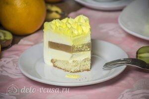 Муссовый торт Летний персик: фото к шагу 19.