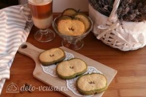 Печенье Зеленое яблоко: фото к шагу 11.