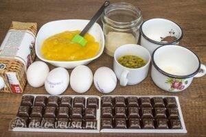 Шоколадный муссовый торт манго-маракуйя: Ингредиенты