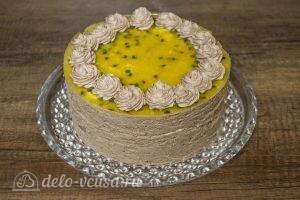 Шоколадный муссовый торт манго-маракуйя: фото к шагу 26.