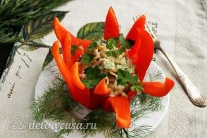 Салат Нежность в перце готов