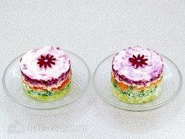 Закусочный салат с картофелем, морковью и свеклой: фото к шагу 14