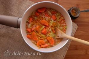 Суп-пюре из чечевицы со сливками: фото к шагу 5.