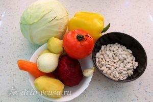 Вегетарианский борщ с фасолью: Ингредиенты