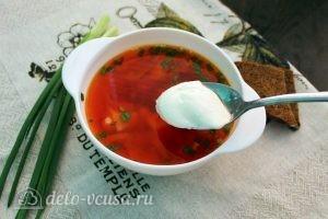 Вегетарианский борщ с фасолью готов