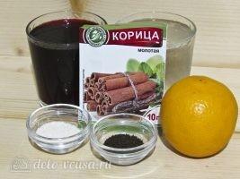 Безалкогольный глинтвейн на вишневом соке: Ингредиенты