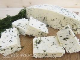 Адыгейский сыр с укропом в домашних условиях: фото к шагу 12