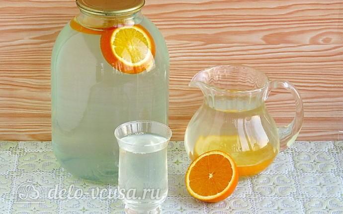 Березовый сок с апельсином на зиму