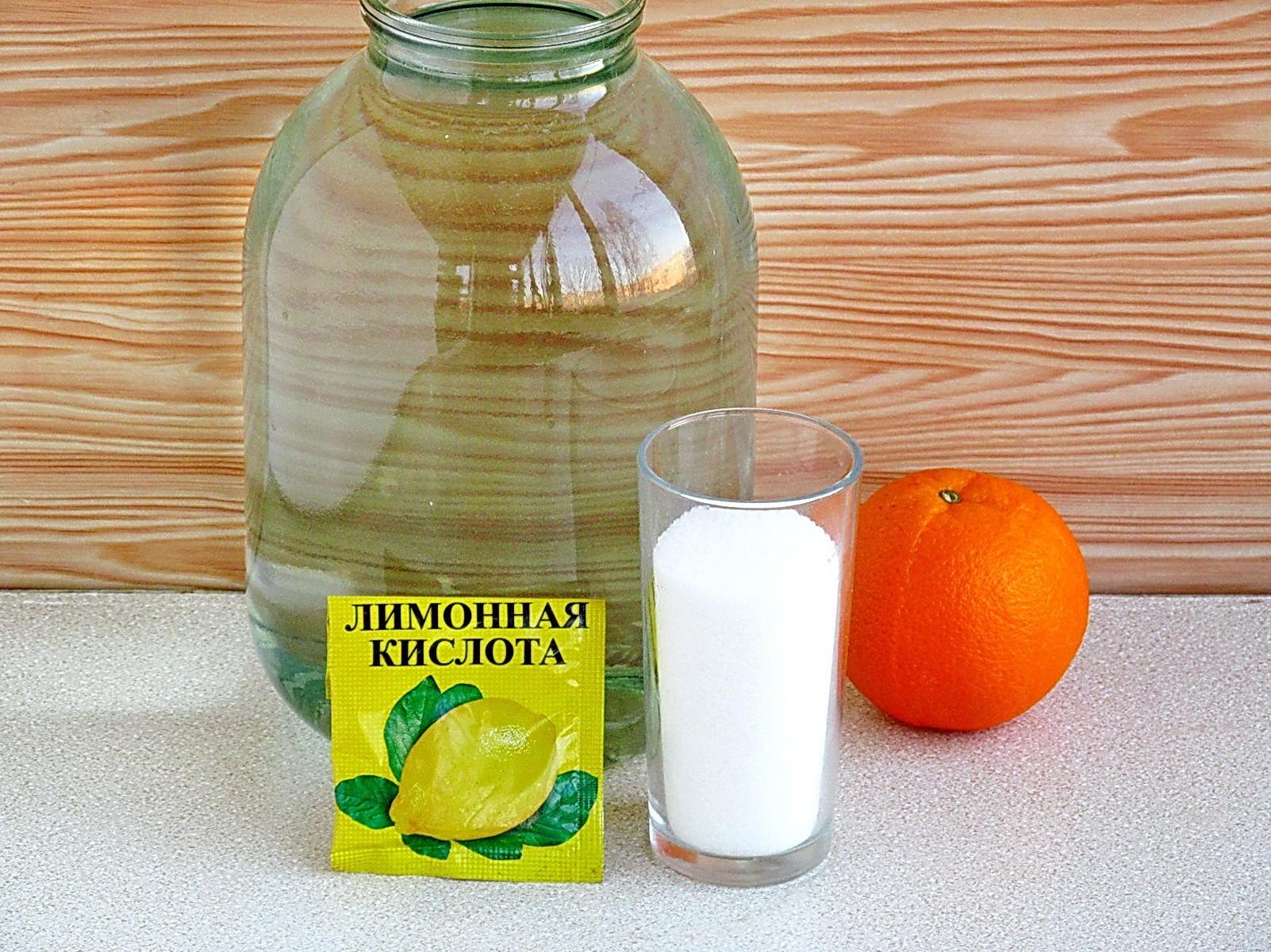 Березовый сок с апельсином на зиму: Ингредиенты