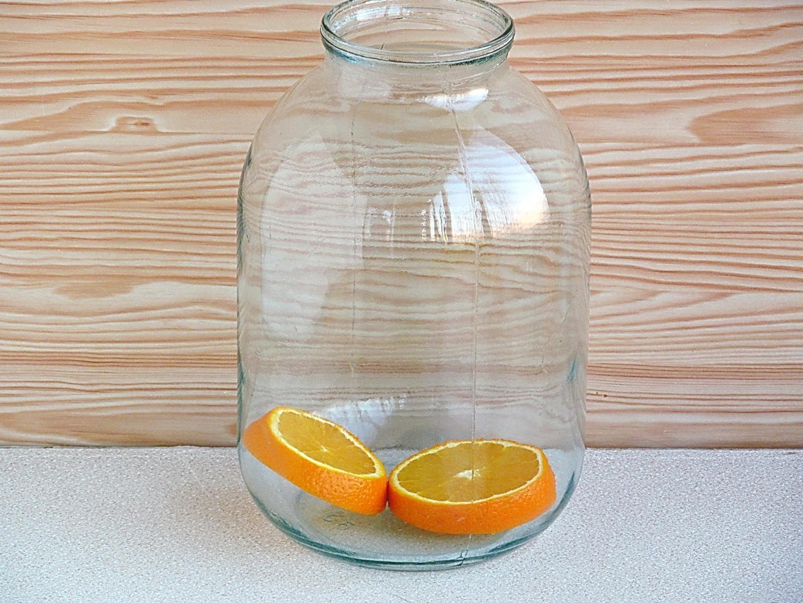 Березовый сок с апельсином на зиму: фото к шагу 3.