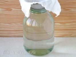 Березовый сок с веточкой смородины на зиму: фото к шагу 2.
