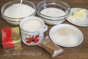 Дрожжевые булочки с корицей: Ингредиенты