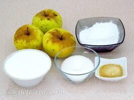 Десерт Комплимент с яблоками: Ингредиенты