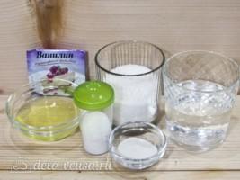 Глазурь Птичье молоко для куличей: Ингредиенты