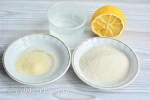 Глазурь для куличей на желатине без яиц: Ингредиенты