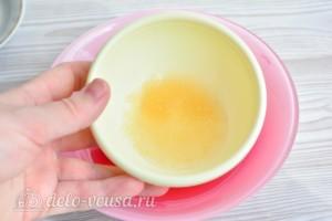 Глазурь для куличей на желатине без яиц: фото к шагу 5.