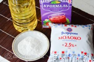 Сахарная глазурь на крахмале за 5 минут: Ингредиенты