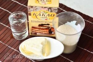 Шоколадная глазурь на воде из какао: Ингредиенты