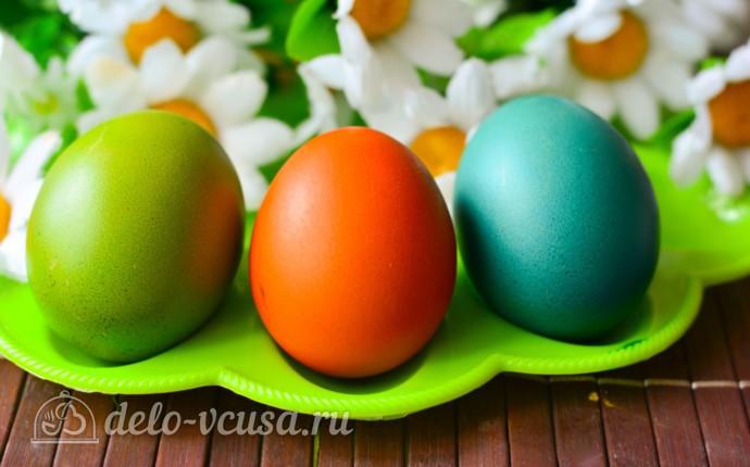 Как покрасить яйца гелевыми красителями: фото блюда приготовленного по данному рецепту