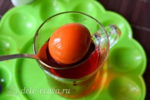 Как покрасить яйца гелевыми красителями: фото к шагу 6.