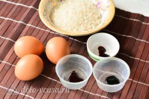 Как покрасить яйца рисом: Ингредиенты