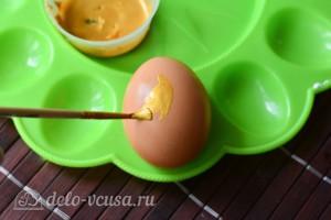 Как покрасить яйца в золотой цвет кандурином: фото к шагу 2