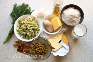 Киш с курицей и кабачками: Ингредиенты