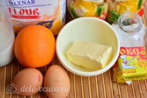 Быстрый апельсиновый кулич на дрожжах: Ингредиенты