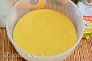 Быстрый апельсиновый кулич на дрожжах: фото к шагу 3.