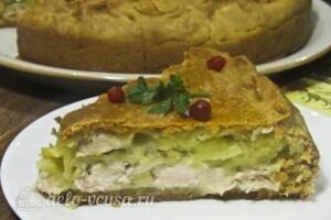 Король-пирог с курицей и картошкой: фото к шагу 21.