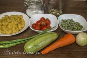 Макароны со стручковой фасолью и кабачками: Ингредиенты