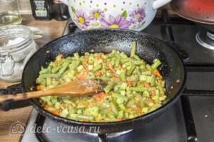 Макароны со стручковой фасолью и кабачками: фото к шагу 4.