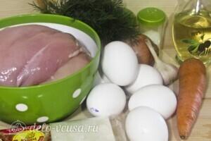 Мясной пирог со слоеным тестом: Ингредиенты