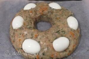 Мясной пирог со слоеным тестом: фото к шагу 13.