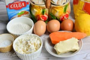 Морковно-творожный кулич: Ингредиенты