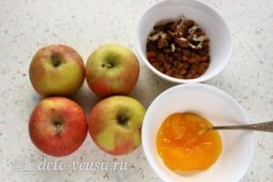 Печеные яблоки с медом и изюмом: Ингредиенты