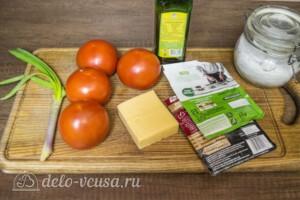 Запеченные помидоры под сыром в духовке: Ингредиенты