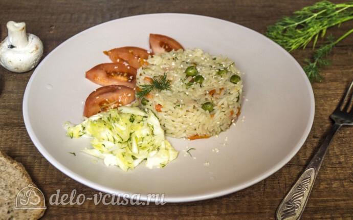 Супер-гарнир из риса с горошком